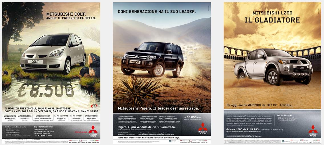 Mitsubisci advertising